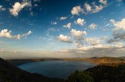 Lago crater no vulcão dormente Laguna de Apoyo. Foto de Stock