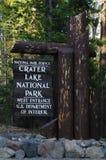 Lago crater, Oregon, U.S.A. immagine stock libera da diritti