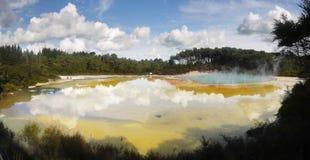 Lago crater, paisagem vulcânica Foto de Stock