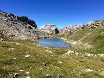 Lago Crespeina Fotografie Stock