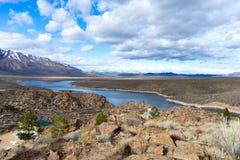 Lago Crowley in valle di Owen immagini stock libere da diritti