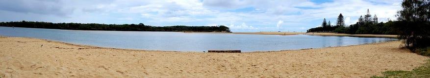 Lago Currimundi, costa da luz do sol, Queensland, Austrália fotografia de stock