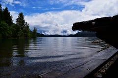 Lago Cushman, parque nacional olímpico, WA fotos de stock royalty free