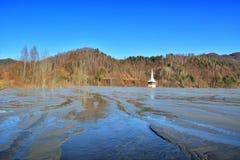 Lago cyanide em Geamana Romênia Imagens de Stock Royalty Free