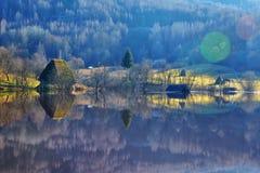 Lago cyanide em Geamana Romênia Imagem de Stock