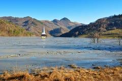 Lago cyanide en Geamana Rumania Imagenes de archivo