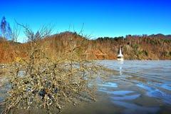 Lago cyanide en Geamana Rumania Imagen de archivo