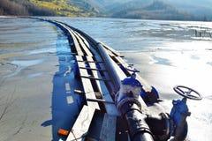 Lago cyanide en Geamana Rumania Fotografía de archivo