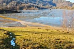 Lago cyanide en Geamana Rumania Foto de archivo