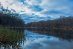 Lago d'autunno Fotografia Stock Libera da Diritti