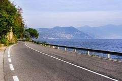 Lake Iseo, seen from its west bank. Lago d`Iseo or Sebino is the fourth largest lake in Lombardy, Italy, fed by the Oglio river. It is in the north of the royalty free stock photos