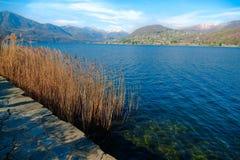 Lago d'Orta,意大利 免版税库存图片