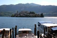 Lago d'Orta, Italien lizenzfreie stockfotografie