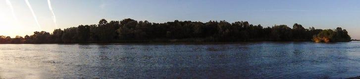 Lago da floresta do por do sol Fotografia de Stock Royalty Free