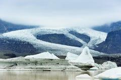Lago da geleira de Fjallsarlon, Islândia Fotos de Stock Royalty Free