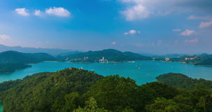 Lago da lua de Sun, Nantou, Taiwan filme
