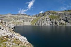Lago da montagem de Reisseck imagem de stock