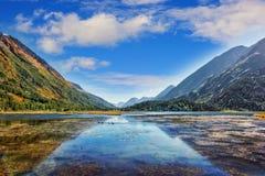 Lago da montanha de Serene Alaskan na península de Kenai durante Autum fotografia de stock royalty free