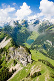 Lago da montanha de Switzerland Fotos de Stock Royalty Free