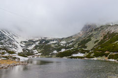 Lago da montanha do pleso de Skalnate slovakia foto de stock royalty free