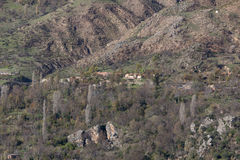 Lago da represa da montanha em Argélia do norte Fotografia de Stock
