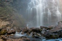 Lago da rocha da cachoeira Fotografia de Stock