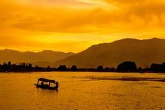 Lago Dal, Cachemira, la India fotos de archivo