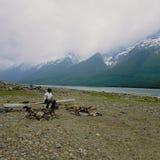 Lago dalle montagne Immagine Stock Libera da Diritti