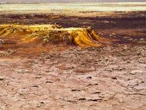 Lago Dallol na depressão de Danakil, Ehtiopia Imagem de Stock