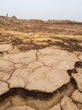 Lago Dallol na depressão de Danakil, Ehtiopia Foto de Stock Royalty Free