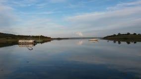 Lago dam di Alqueva Fotografie Stock Libere da Diritti