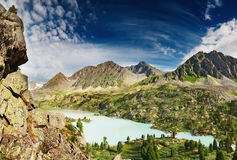 Lago Darashkol mountain Fotografie Stock Libere da Diritti