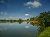 Lago Darulaman en Jitra, Kedah imágenes de archivo libres de regalías