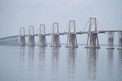 Lago de Маракайбо el sobre Puente Стоковое Фото