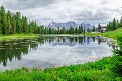Lago de Antorno in Sexten Dolomites, Tyrol, Italy Royalty Free Stock Image