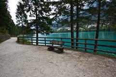 Lago de Auronzo, Italia fotografía de archivo libre de regalías