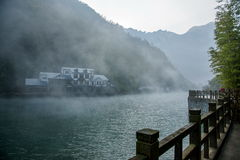 Lago de bambú del agua santa del mar de Hubei Zigui Three Gorges Foto de archivo