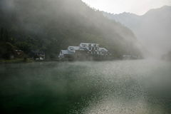 Lago de bambu da água santamente do mar de Hubei Zigui Three Gorges Imagens de Stock