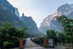 Lago de bambu da água santamente do mar de Hubei Zigui Three Gorges Fotografia de Stock