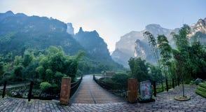 Lago de bambu da água santamente do mar de Hubei Zigui Three Gorges Fotos de Stock
