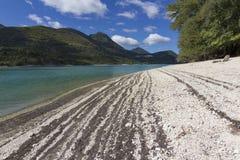 Lago de Barrea Imagem de Stock Royalty Free