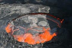 Lago de borbulhagem da lava da cerveja inglesa de Erta Imagem de Stock