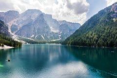 Lago de Braies Imagem de Stock Royalty Free