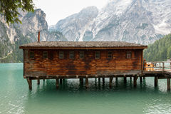 Lago de Braies or The Pragser Wildsee Royalty Free Stock Photo