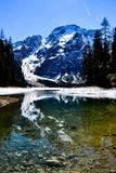 Lago de Braies foto de stock royalty free