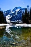 Lago de Braies foto de archivo libre de regalías
