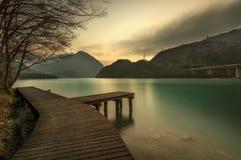 Lago de Cavazzo (Italia) Fotos de archivo