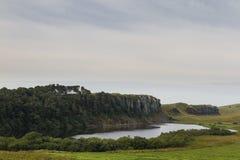 Lago de Cragg en Roman Wall Northumberland, Inglaterra Imagen de archivo