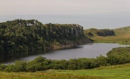 Lago de Cragg en Roman Wall Northumberland, Inglaterra Fotografía de archivo libre de regalías