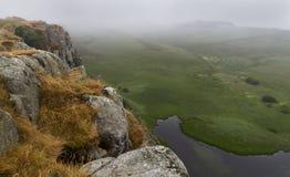 Lago de Cragg en Roman Wall Northumberland, Inglaterra Foto de archivo